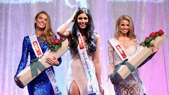 MELBOURNE, AUSTRALIA - JULY 12: Olivia Wells of Victoria is crowned as the winner at the 2013 Miss Universe Australia Pageant on July 12, 2013 in Melbourne, Australia. (Photo by Robert Prezioso/Getty Images)