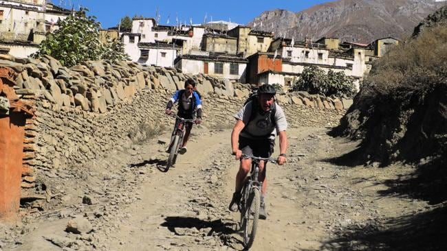 Explore Nepal by bike. Picture: Supplied