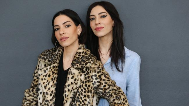 An apparent feud between The Veronicas. Pictures: Jack Tran