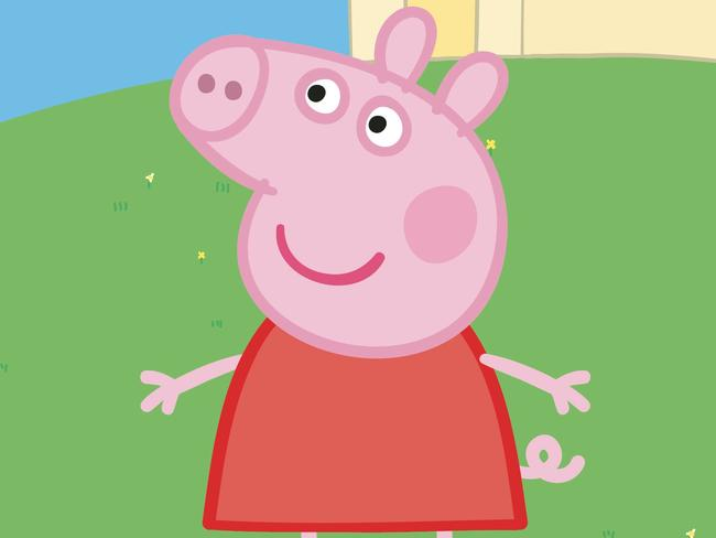 Not welcome ... UK customs destroyed a Peppa Pig costume because it violated intellectual property rights.