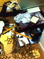 <p>Police photographs of the chaotic scenes at Grant Hackett's high-rise Southbank apartment on October 30 last year.</p>