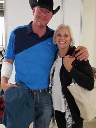 Tim McGinty with nurse Peggy Phillips. Picture: Facebook