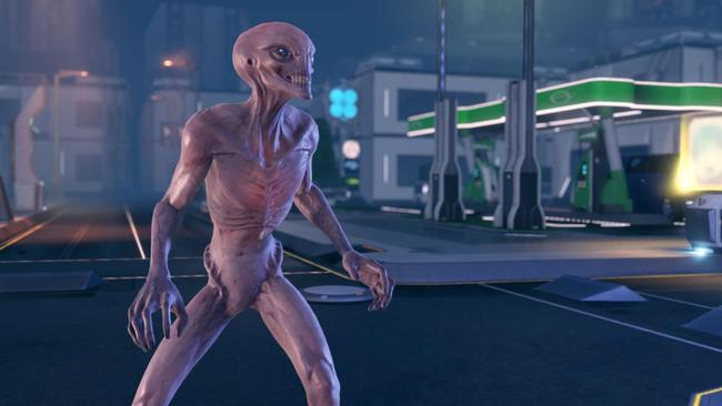 One of the aliens in the game known as Sectoid.