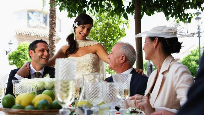 The bride can't believe how heartfelt her dad's speech was. It was so unlike him!