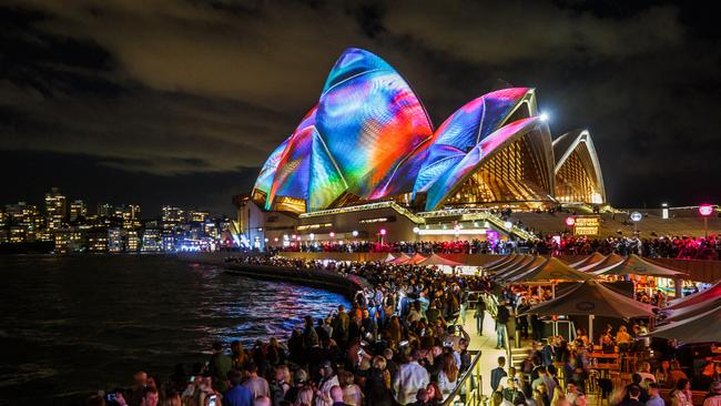 While Sydney has seen a net loss of people interstate. Picture: AAP Image/Vivid LIVE/Daniel Boud