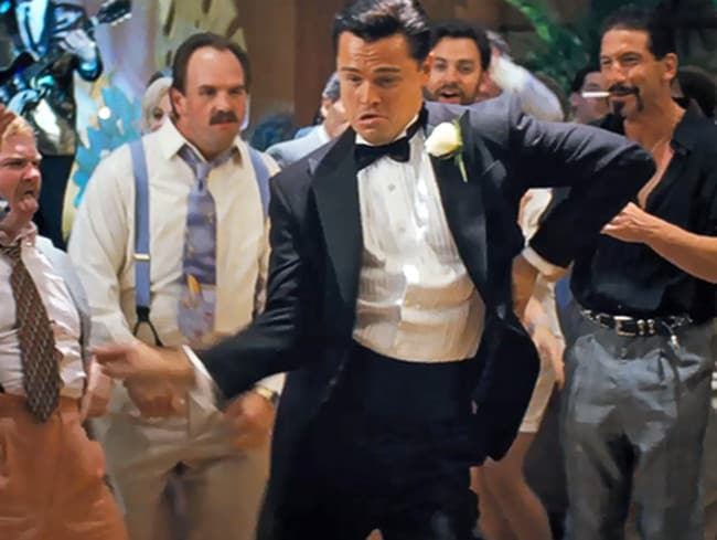 Hollywood version ... Leonardo diCaprio as Jordan Belfort in The Wolf of Wall Street.