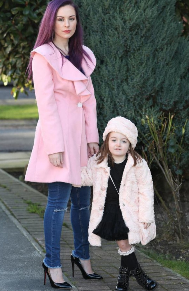 Sarah Bryan was furious when three-year-old Isabella came home from a playdate with scuffed shoes. Picture: Ben Lack Photography