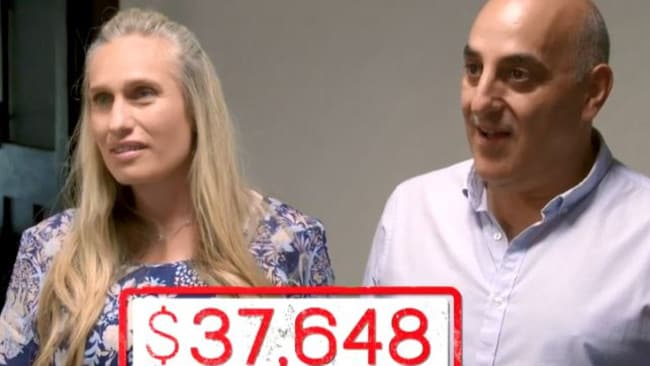The ugly truth of how much Sabrina and Michael are spending on food and dining out each year. Picture: Channel 9