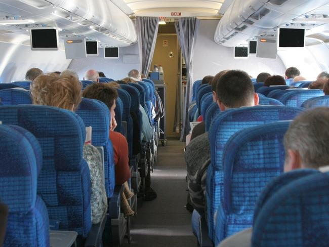 Generic photo showing a plane interior with people. Picture: iStock