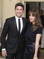 Harry Kewell and Sheree Murphy attend a reception hosted by the Governor General Peter Cosgrove. Picture: Getty
