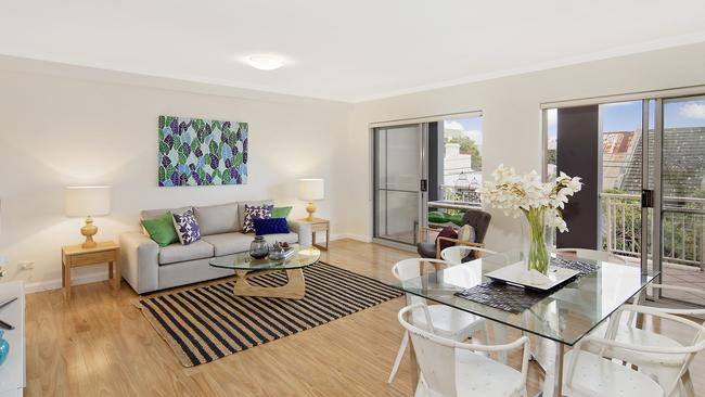OPEN LIVING: The interior of 5/23 George Street, Redfern. Weekend auction activity saw strong bidding on apartments.