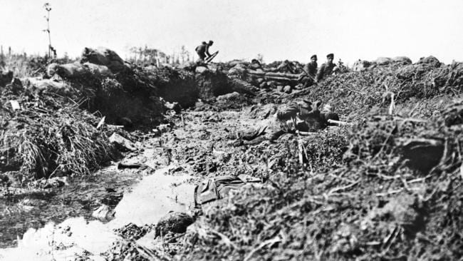 A previously unpublished photograph shows the carnage of the Battle of Fromelles. Picture: COURTESY AUSTRALIAN WAR MEMORIAL.