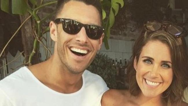 The Bachelorette Georgia Love with boyfriend Lee Elliott. Picture: Instagram