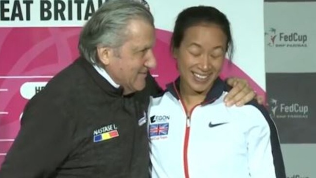 Nastase makes inappropriate remarks to Britain's Fed Cup captain.