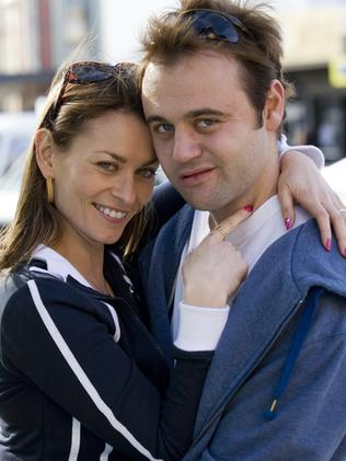 Actors Kat Stewart and Gyton Grantley, who played Roberta and Carl Williams in  <i>Underbelly</i>.