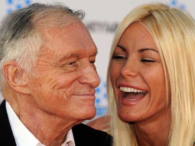 Hef and his wife Crystal. Source: AFP Photo/Gabriel Bouys