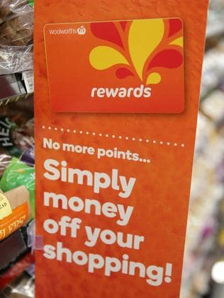 Not happy Jamie ... The new Woolworths Rewards program has been slammed by many shoppers.
