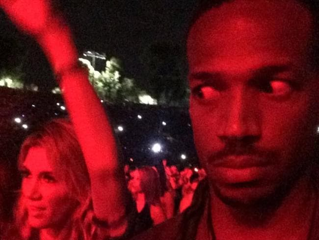 """Man I got the most UNRHYTMIC WHITE WOMAN dancing next to me at the jay and bay concert,"" Marlon Wayans wrote on Instagram. Picture: Instagram"