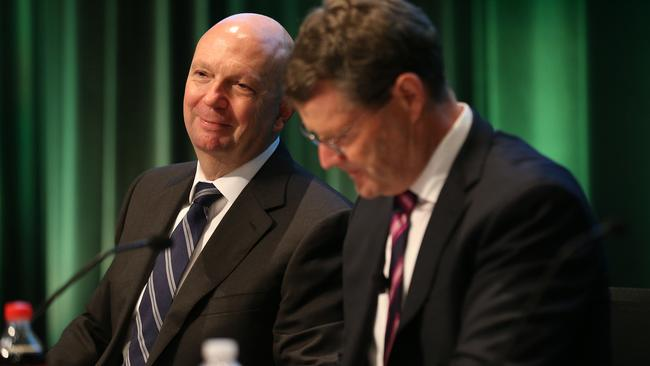 Woolworths chairman Gordon Cairns, left, with CEO Grant O'Brien.