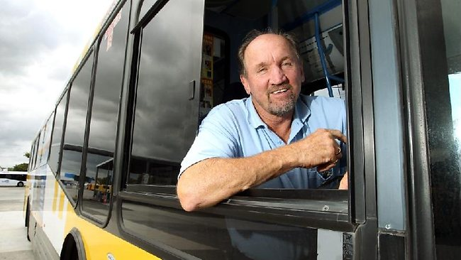 All aboard: Ray Price has taken to driving buses since moving to the Gold Coast.