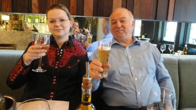Sergei and Yulia Skripal at a restaurant believed to be Zizzi's. Photo: Supplied