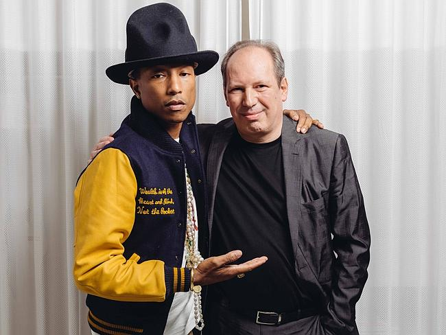 Superhero singer ... Pharrell and Hans Zimmer collaborated on the soundtrack for The Amazing Spider-Man 2. Picture: Casey Curry/Invision