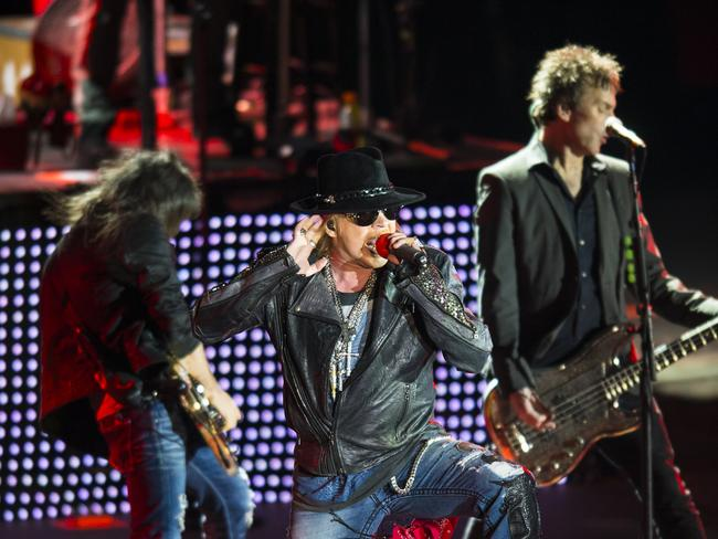 Guns N' Roses ... who have performed at the Sidney Myer Music Bowl in Melbourne.