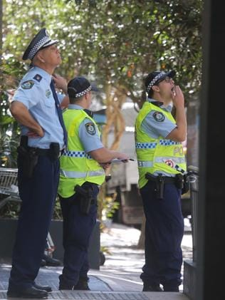Police are on the scene of the incident in Chatswood. Picture: John Grainger