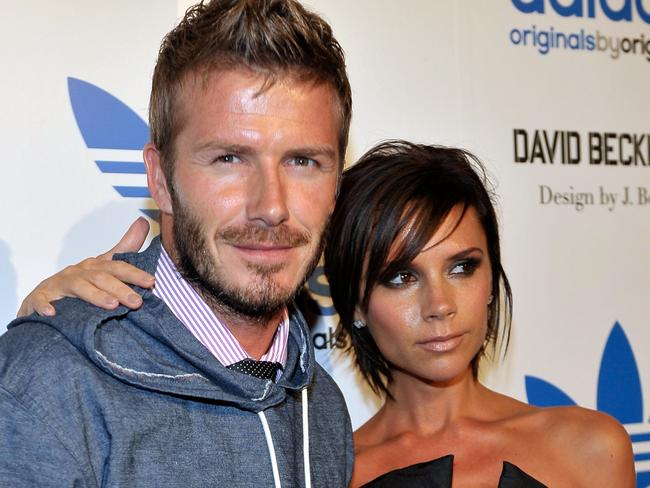 The superstar pair at the David Beckham/James Bond Adidas Originals launch in 2009.