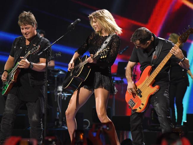 Swift told the crowd it will be her only gig this year. Picture: Larry Busacca/Getty Images