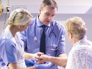 Generic photo in hospital - senior woman has hospital check. Picture: iStock