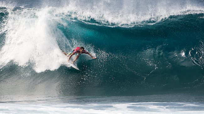 Joel Parkinson in action at the Billabong Pipe Masters in Hawaii. Picture: ASP