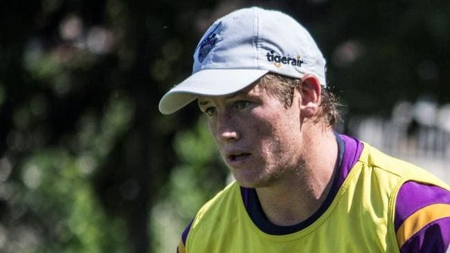 Melbourne Storm's Harry Grant in training.