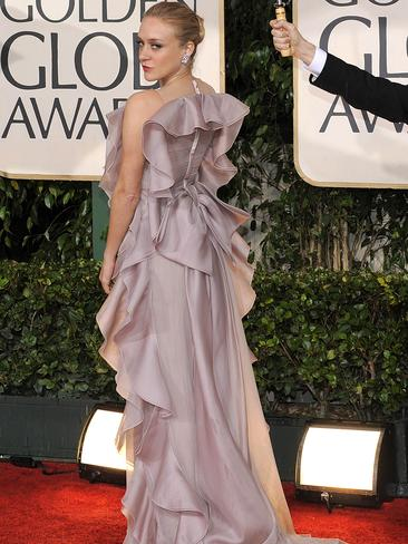 The actress hits the red carpet for the Golden Globes in 2010.