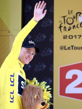 Chris Froome survived a tough day.