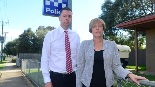 Lisa Neville, pictured with opposition police minister Wade Noonan, has accused Environment Minister Ryan Smith of verbal abuse.