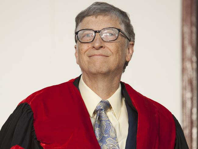 Richer than we ever thought. Bill Gates's fortune is estimated at $US80 billion. AFP PHOTO / ZACHARIAS ABUBEKER