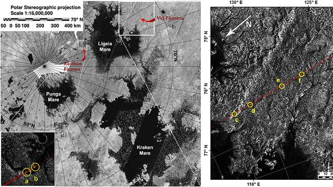 A sample of the terrain-mapping of Titan produced by the Cassini probe. Picture: NASA