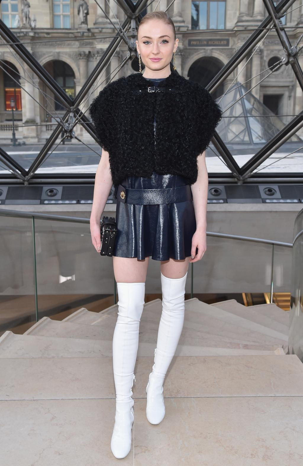 Sophie Turner attends the Louis Vuitton show as part of the Paris Fashion Week Womenswear Fall/Winter 2017/2018 on March 7, 2017 in Paris, France. Picture: Getty