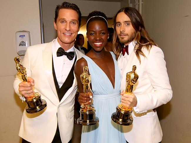 "Leto won best supporting actor for ""Dallas Buyers Club"" at the Oscars. Photo by Christopher Polk/Getty Images"