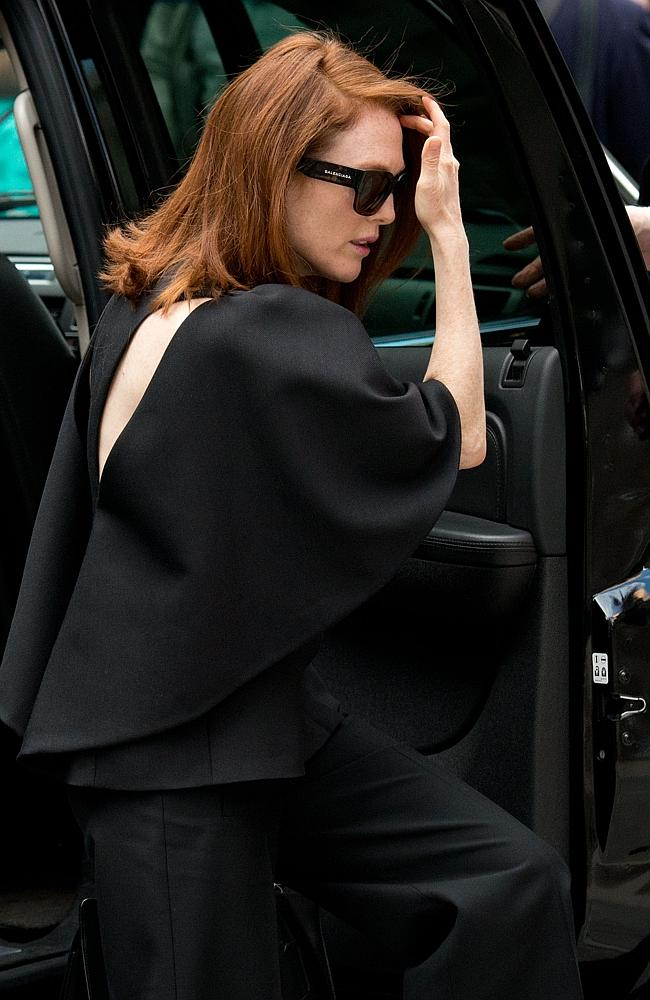 Famous face ... actor Julianne Moore was among the celebrities at the memorial for L'Wren