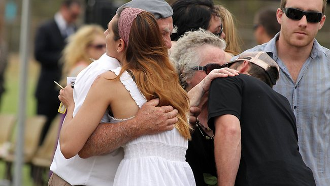The Memorial Service for Jasinta-Leigh Fullerton at the Quorn Oval. Picture: Simon Cross