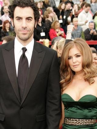 Love ... Sacha Baron Cohen and Isla Fisher at the Academy Awards in 2007. Picture: AFP