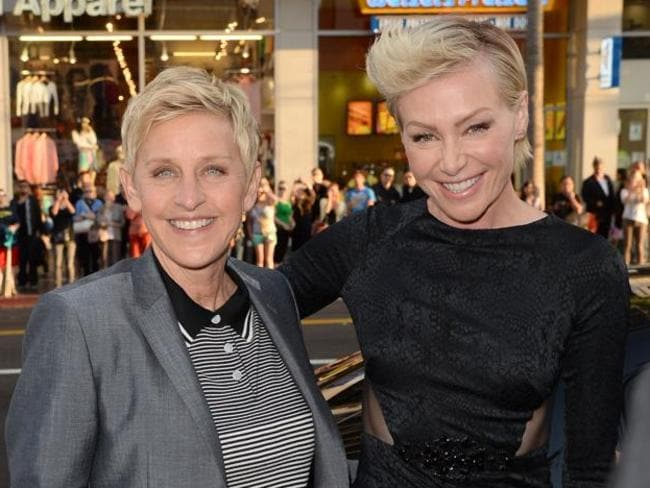 Ellen and portia last year in Hollywood.