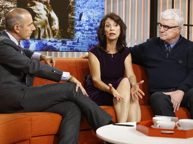 Telling story ... James and Diane Foley talk to Matt Lauer.