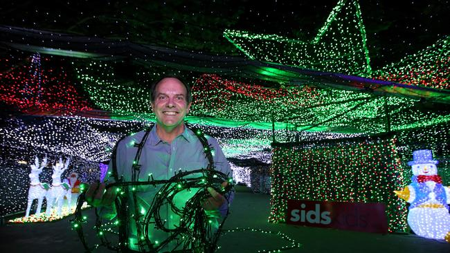 Charity ... More than 200,000 people are expected to flock to the Canberra CBD to see the light display, for a gold coin donation. Picture: Kym Smith / News Corp Australia