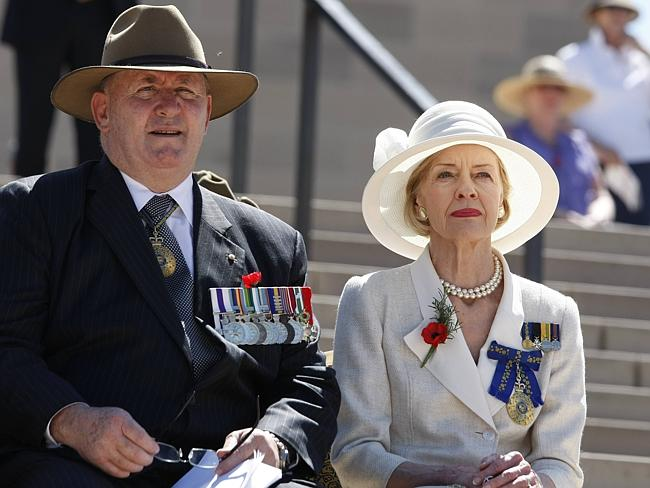 Retired General Peter Cosgrove and Her Excellency Ms Quentin Bryce AC.