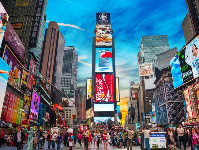 Times Square is a must-see for visitors to NYC. Picture: iStock