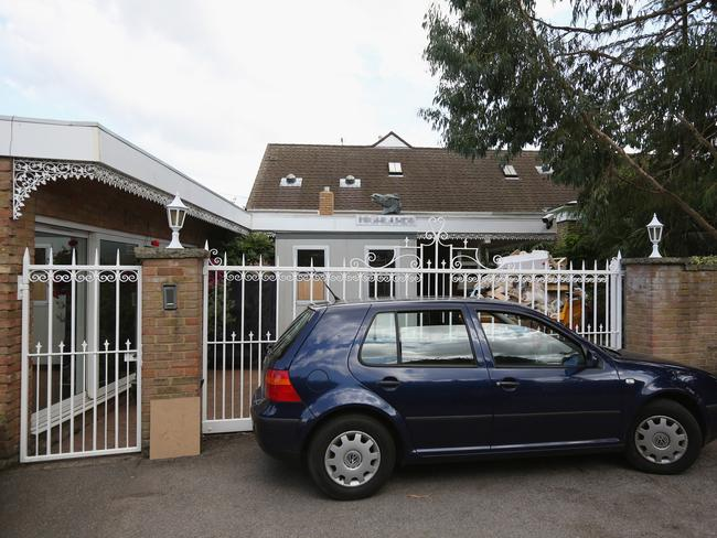 Lives changed ... the home of TV presenter Rolf Harris. Picture: Oli Scarff/Getty Images