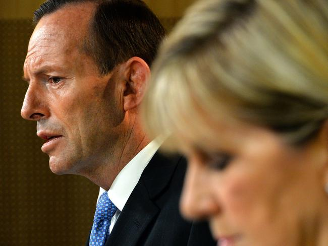 Australian Prime Minister Tony Abbott and Foreign Minister Julie Bishop.